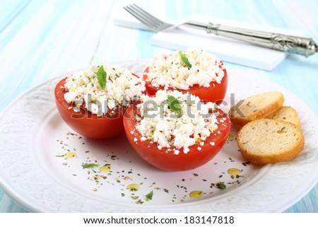 tomato and cheese - stock photo