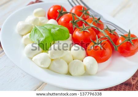 tomato and mozzarella - stock photo