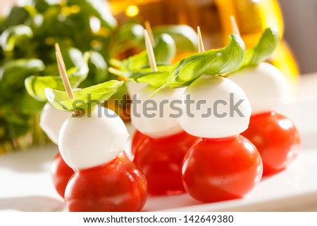 Tomato and mozzarella - stock photo