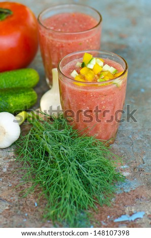 tomato gazpacho - stock photo