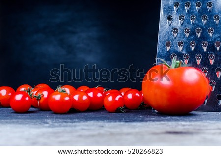 tomato,grater and cherry tomatoes