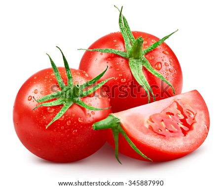 Tomato isolated on white background Clipping Path