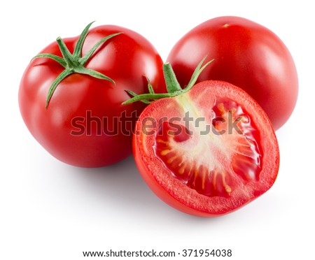 Tomato isolated on white. With clipping path.