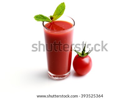 Tomato juice made with organic tomatoes