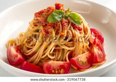 Tomato pasta - stock photo