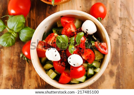 tomato salad - stock photo