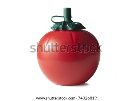 Tomato sauce bottle - stock photo