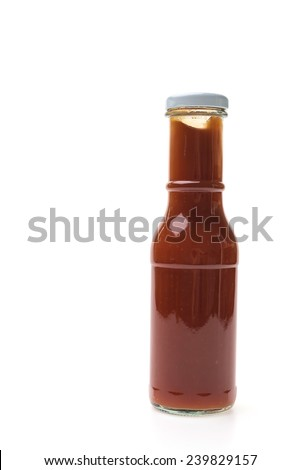 Tomato Sauce bottle isolated on white background