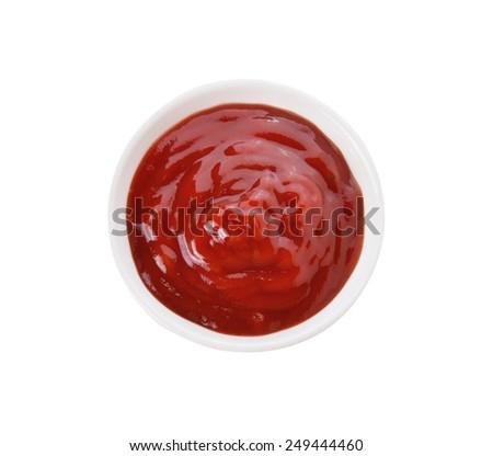 tomato sauce isolated on white background - stock photo