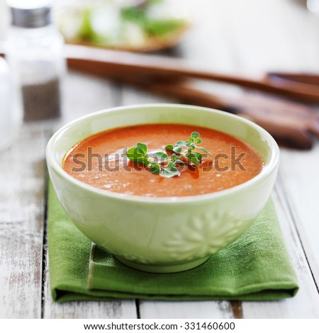 Bisque Stock Photos, Royalty-Free Images & Vectors ... Cream Of Tomato Soup With Garnish