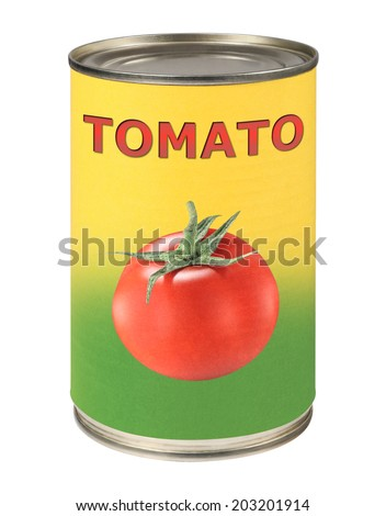 Tomato tin can - stock photo