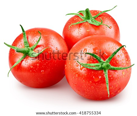 Tomato vegetables isolated on white background  Clipping Path