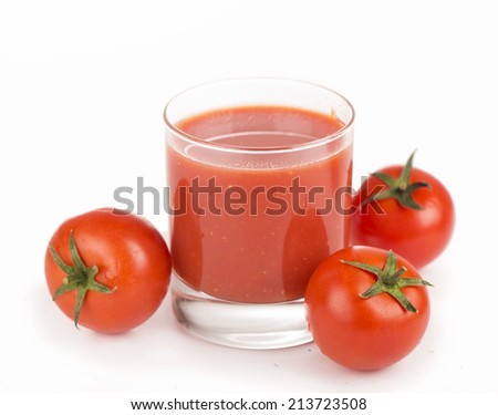 tomatoes and tomato juice  - stock photo
