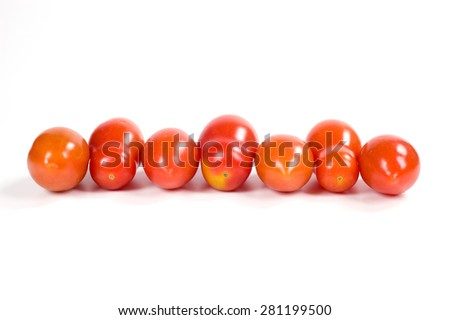tomatoes cut salad - stock photo