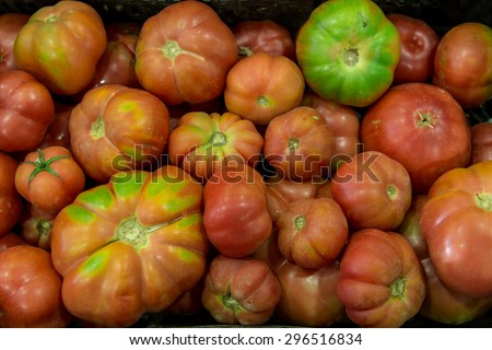 tomatoes group as background