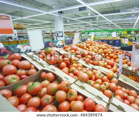 tomatoes  in a supermarket