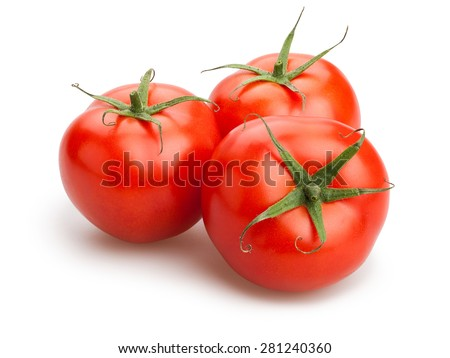 tomatoes isolated - stock photo