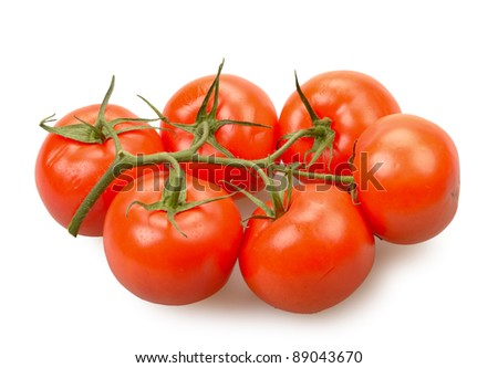 Tomatoes isolated on a white background