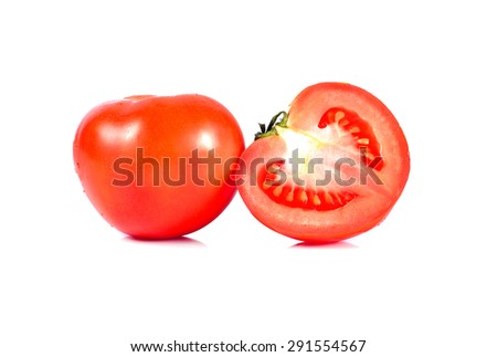 tomatoes isolated on the white background
