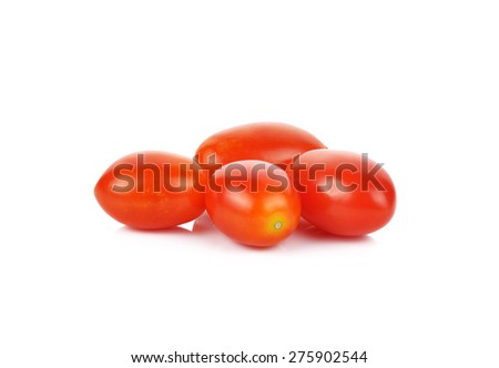 tomatoes Isolated on white background. - stock photo