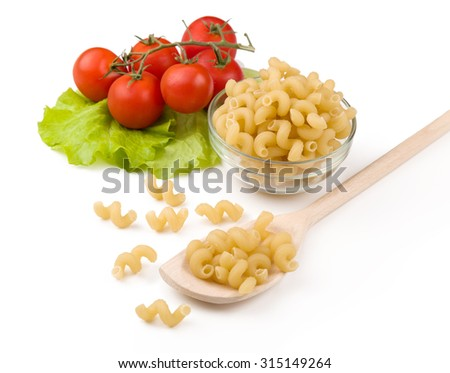 Tomatoes, leaf and paste isolated on a white.