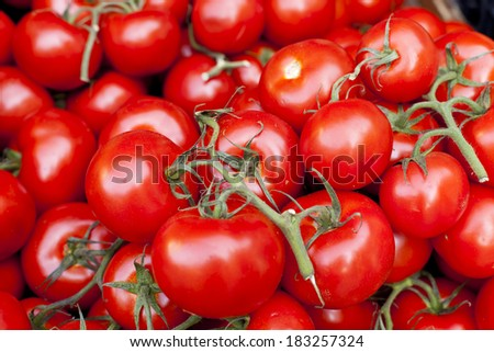 Tomatoes on a street market