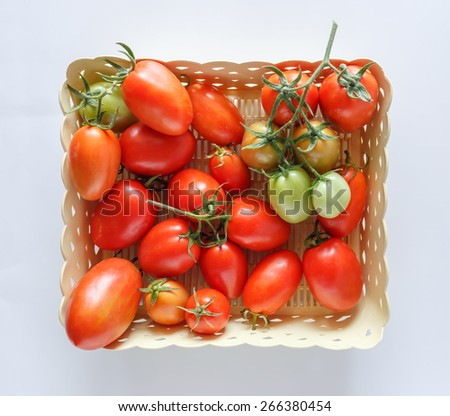 Tomatoes on basket