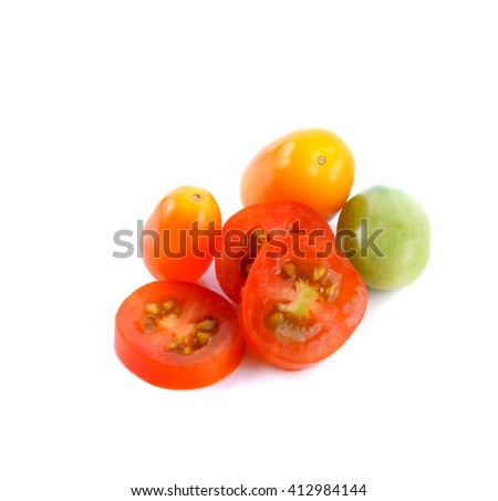 Tomatoes on white back ground