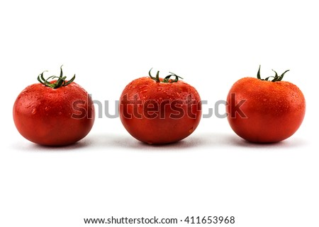 Tomatoes on white background./ Tomatoes