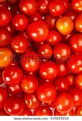 Tomatoes texture on a white background - stock photo