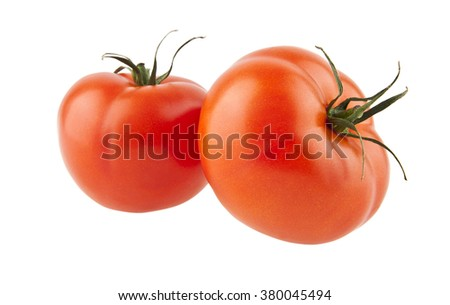 tomatos isolated on a white background - stock photo