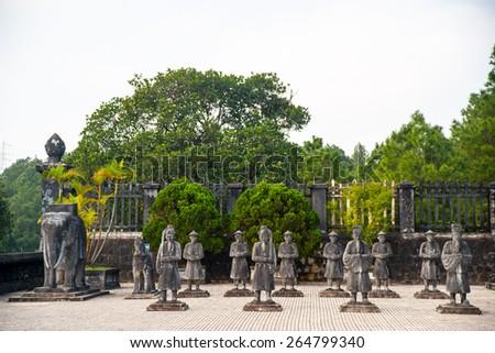 Tomb of Khai Dinh emperor in Hue, Vietnam. A UNESCO World Heritage Site - stock photo