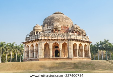 Tomb of Muhmad Shah in lodhi garden, New Delhi, india - stock photo