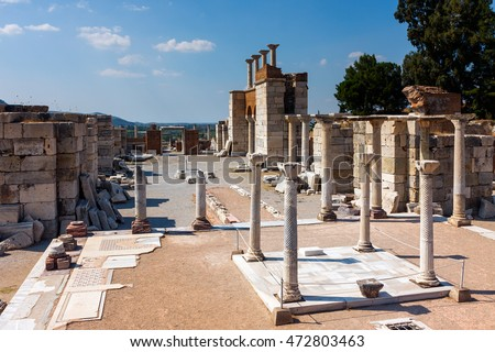 Tomb of Saint John in ruins of the Basilica of St. John the Apostle in Selcuk / Ephesus. Turkey