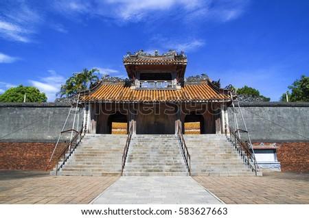 Tomb of Tu Duc in Hue, Vietnam