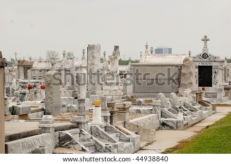 tombs in a new orleans cemetery