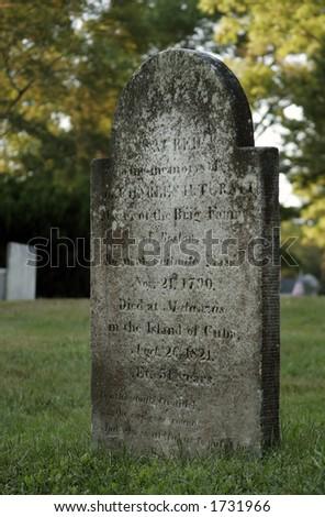 tombstone - stock photo