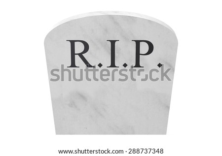 tombstone closeup isolated on white background