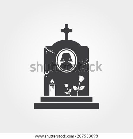 Tombstone icon - stock photo