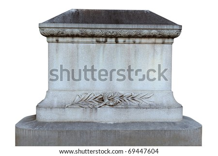 Tombstone isolated over white background - stock photo