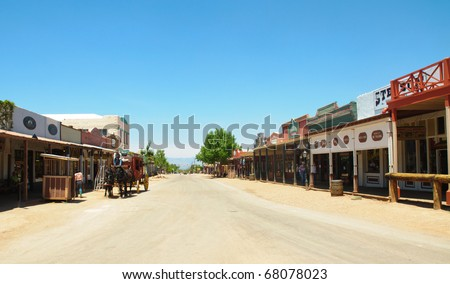 Tombstone main street - stock photo