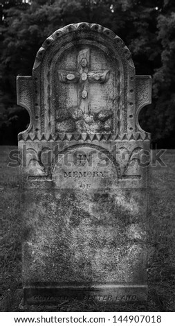 Tombstones at the old Anglican cemetery, Quebec city, Canada - stock photo