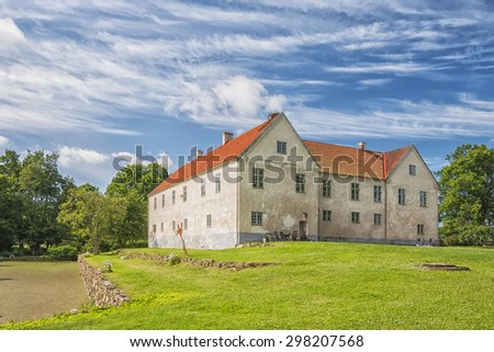 Tommarps Kungsgard is a castle in Astorp Municipality, Scania in southern Sweden.  - stock photo