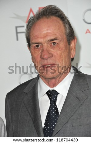 "Tommy Lee Jones at the AFI Fest premiere of his movie ""Lincoln"" at Grauman's Chinese Theatre, Hollywood. November 8, 2012  Los Angeles, CA Picture: Paul Smith"