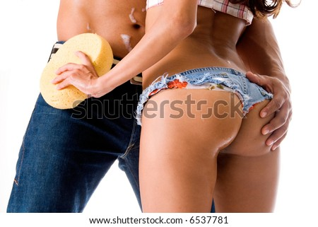 Toned butt. - stock photo