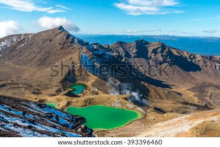 Tongariro National Park, New Zealand - stock photo