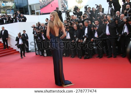 Toni Garn attends the 'Carol' Premiere during the 68th annual Cannes Film Festival on May 17, 2015 in Cannes, France. - stock photo