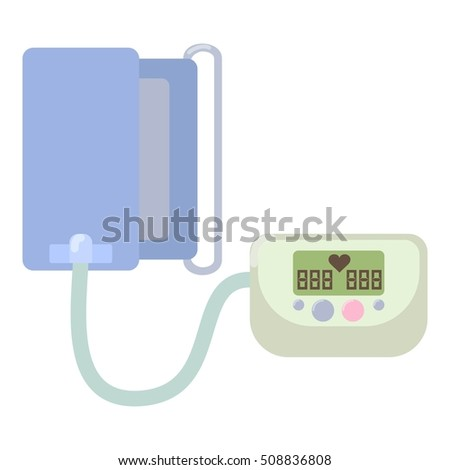 Tonometer icon. Flat illustration of tonometer  icon for web