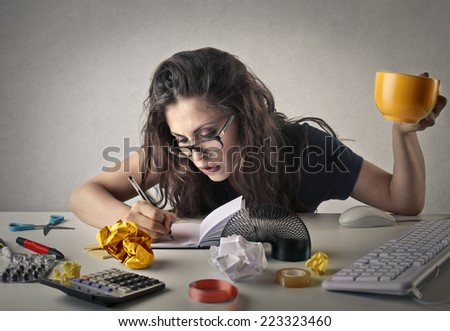 Too busy to stop  - stock photo