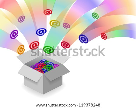 Too many emails - stock photo